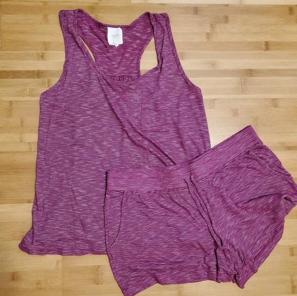 Alfani Purple Floral 2-Piece Tank Top and Boxer Shorts Pajama Set Women/'s L,3XL